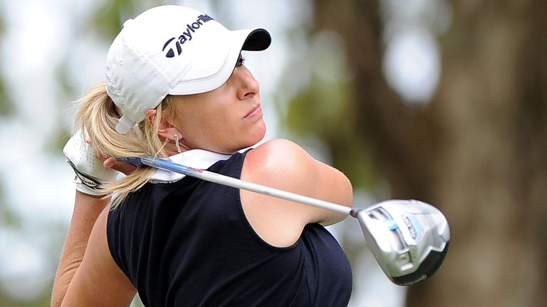 Sarah Kemp: The halfway leader, adding a four-under 68 to her opening 67