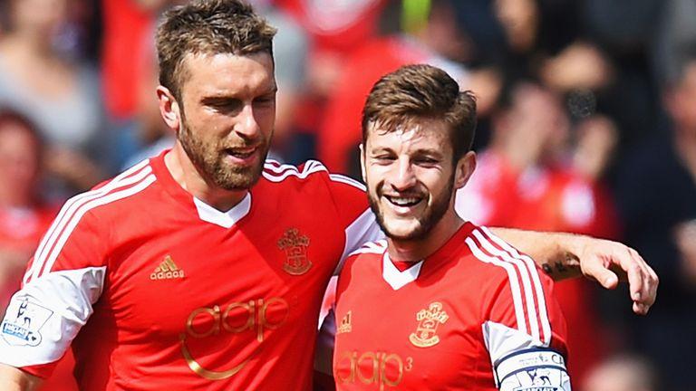 Lambert and Adam Lallana  were key attackers for Southampton