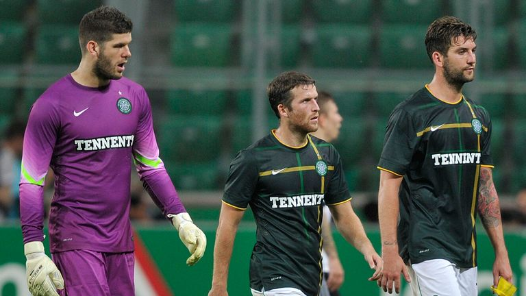 Celtic: Forster, Matthews and Mulgrew trudge off after 4-1 defeat