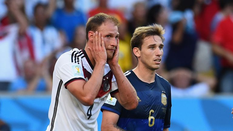 Benedikt Howedes: Steered a close-range header against the upright