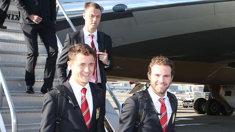 Herrera: With fellow Spaniard Mata