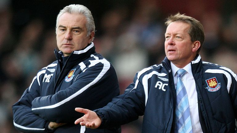 Mervyn Day (left): During his time as West Ham assistant boss