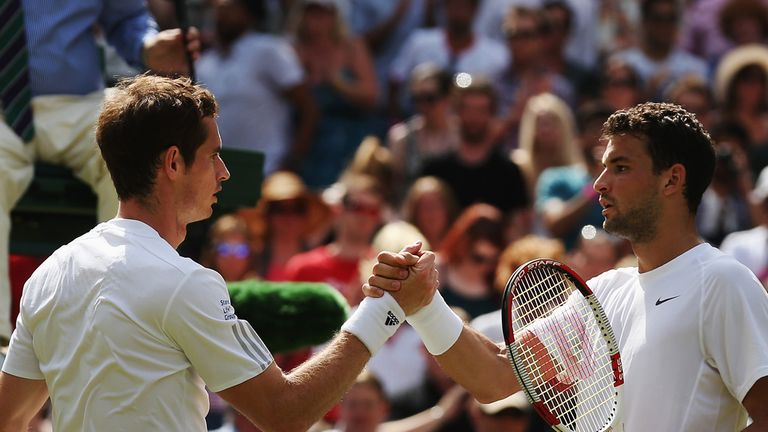 Andy Murray: unable to defend his title and out in straight sets to Grigor Dimitrov
