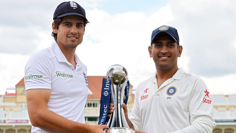 Alastair Cook and MS Dhoni will lead their teams into action on Wednesday