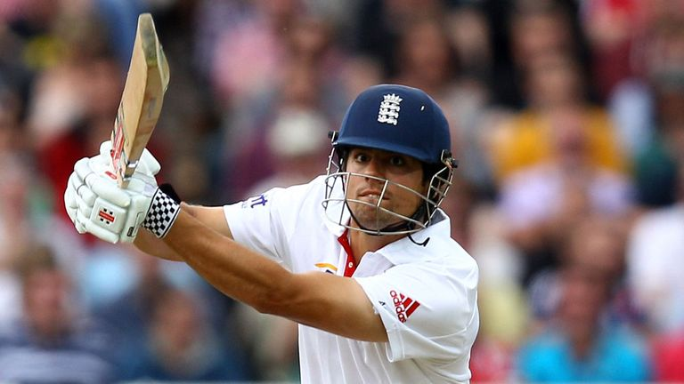 Alastair Cook goes on the offensive during his innings of 294 in the third Test, at Edgbaston