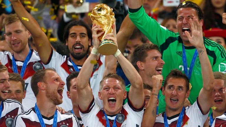 Germany held aloft the World Cup after beating Argentina 1-0 in extra time