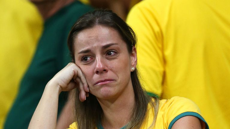 The tears begin to flow in Belo Horizonte
