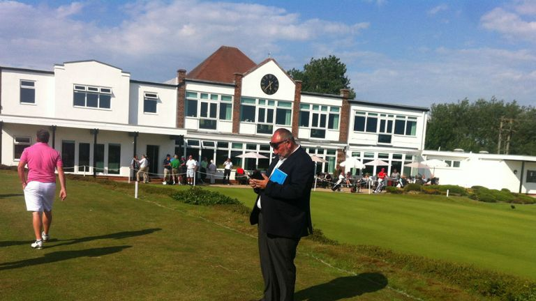 Chubby Chandler was present to keep a keen eye on his new charge Matthew Fitzpatrick