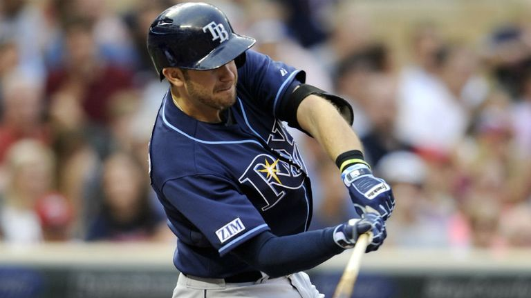 Evan Longoria hit a three-run double to help the Tampa Bay Rays to victory