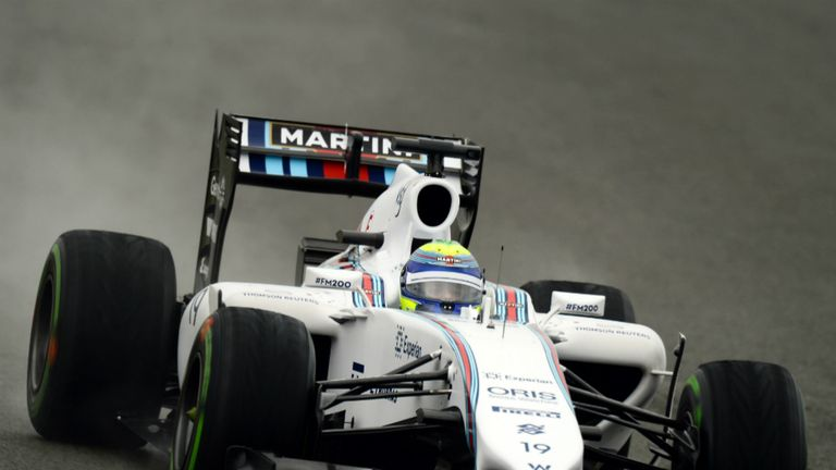 Felipe Massa during British GP qualifying