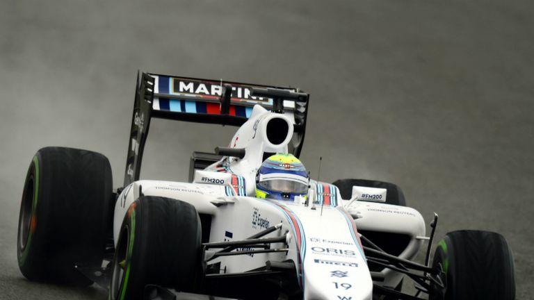 Felipe Massa during British GP qualifying