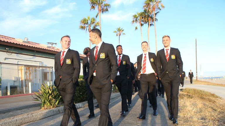 Manchester United are in relaxed mood at the start of their pre-season tour in the US
