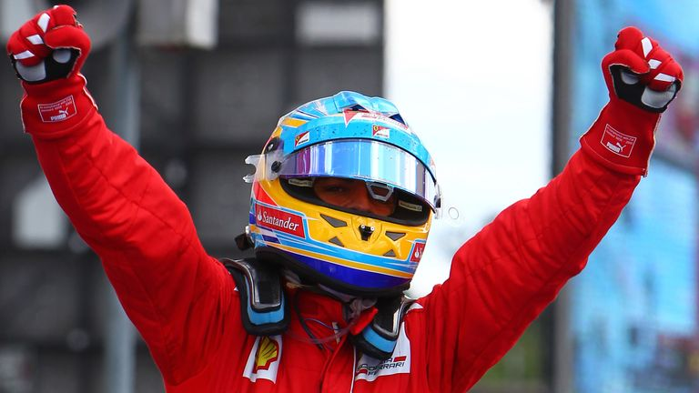 Fernando Alonso: On pole in 2012
