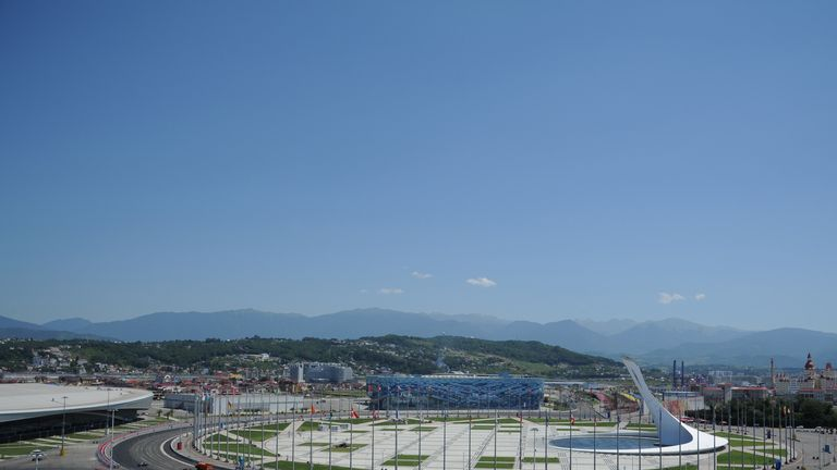 The Sochi Autodrom starts to take shape