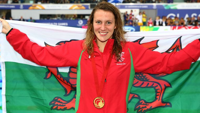 Jazz Carlin: Swept to Wales' first swimming gold medal