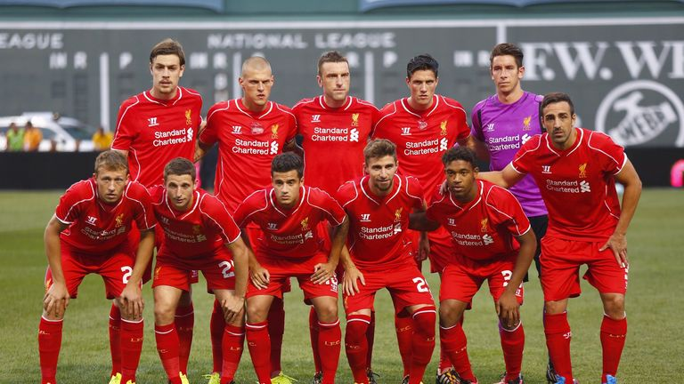Liverpool's starting line-up against Roma