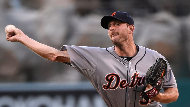 Max Scherzer: Struck out 11 batters for the Tigers