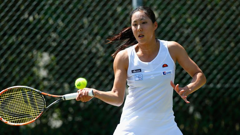 Misa Eguch: Reached the quarter-finals in her first WTA Tour appearance