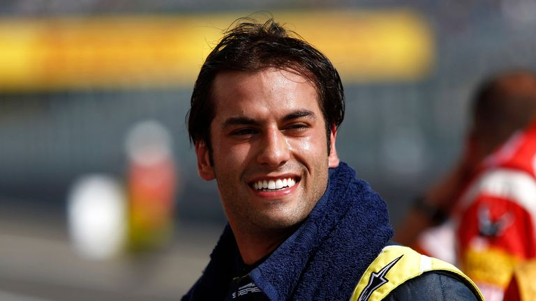 Felipe Nasr: On pole in Hungary (GP2 Series Media)