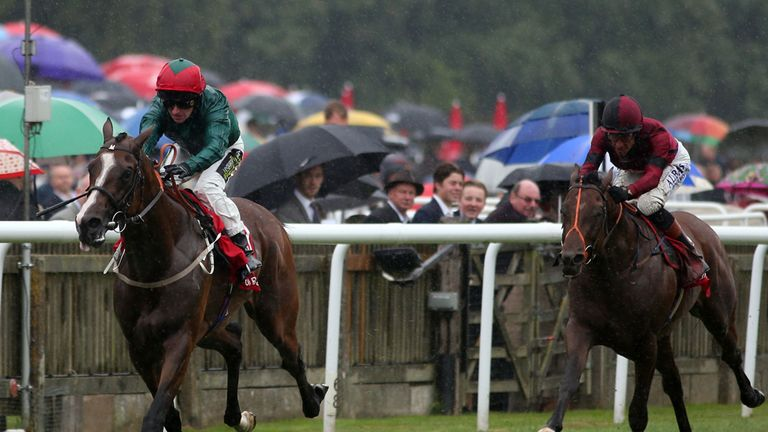 Windshear chases home Hartnell at Newmarket at the July meeting.