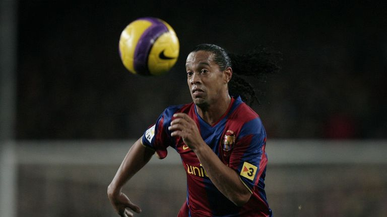 Ronaldinho signed for Barcelona in the summer of 2003