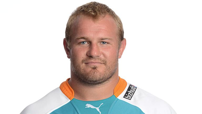 Glasgow-bound Rossouw de Klerk in a Cheetahs' shirt