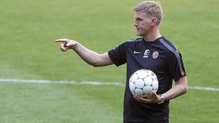 Runar Kristinsson getting ready to face Celtic on Tuesday