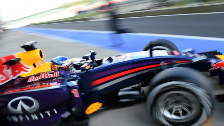 Sebastian Vettel: Spent the day testing 2015 tyres