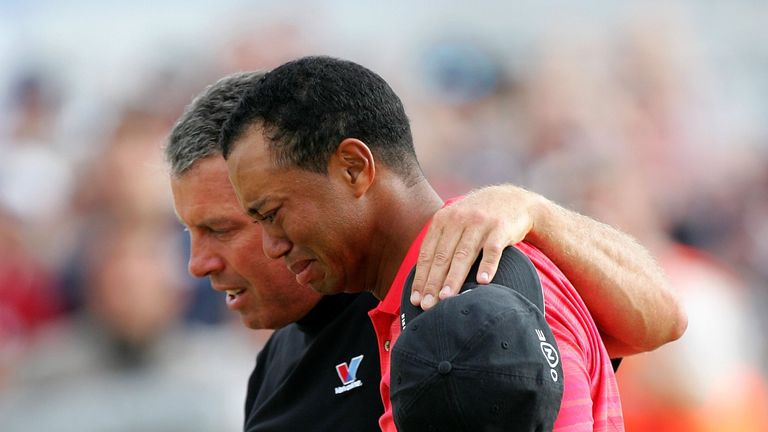 Tiger Woods in tears with his caddy Steve Williams after emotional Hoylake win.
