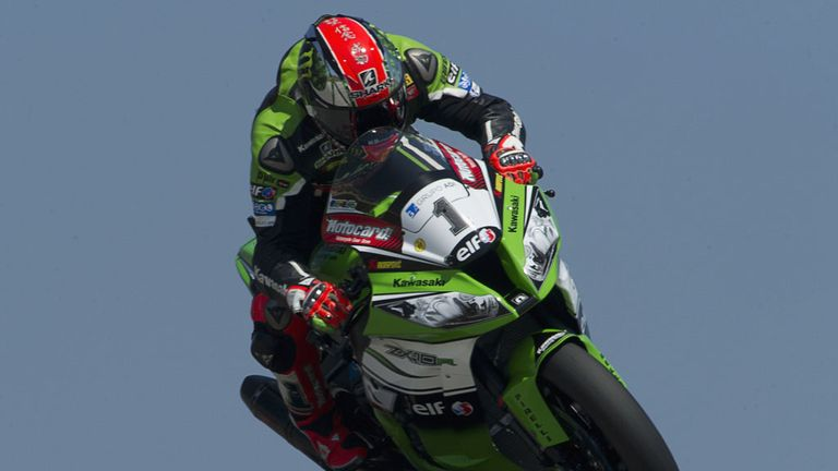 WSB championship leader Tom Sykes at Portimao in Portugal on Sunday