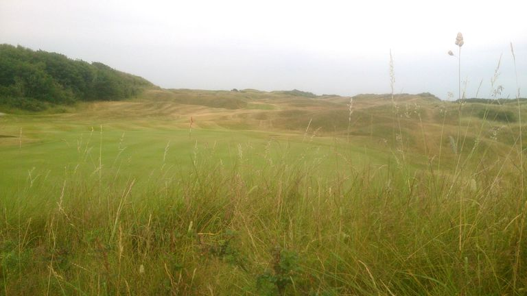 Looking back on the 18th hole at Wallasey Golf Club