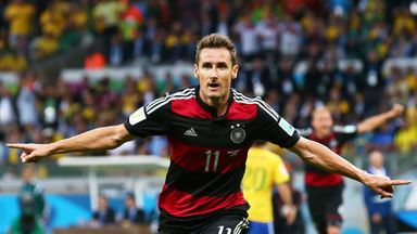 Klose scores his record 16th goal in World Cup finals