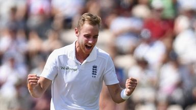 Stuart Broad: Claimed three wickets on the third day to help put England on top