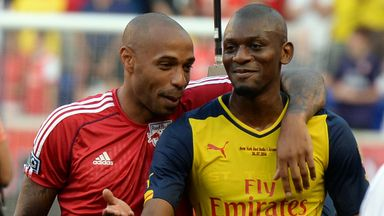 Abou Diaby: Played against Thierry Henry