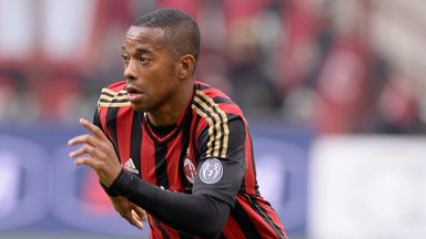 Robinho: Under contract with the Italian giants until June 2016