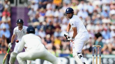 Alastair Cook: Fell agonisingly short of a century for England at the Ageas Bowl