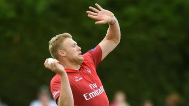 Andrew Flintoff: back in first team action