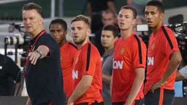 Luke Shaw: During a training session at Pasadena