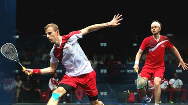 Nick Matthew (L): Beat his England team-mate James Willstrop to claim gold