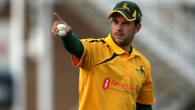 Steven Mullaney: The Nottinghamshire Outlaws hero was the star of the show against Birmingham