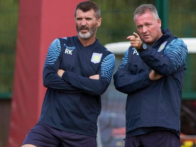 Paul Lambert (right): Villa manager happy with team's pre-season opener