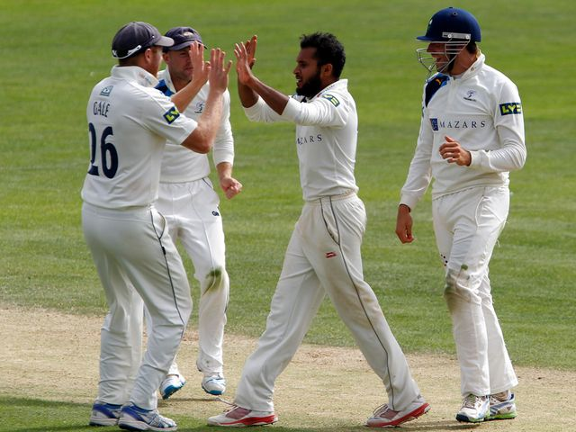 Adil Rashid claimed four wickets at Scarborough