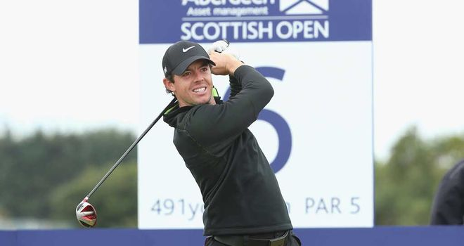 Rory McIlroy: One-shot lead after first round following course record 64 at Royal Aberdeen