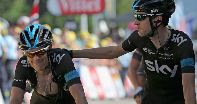 Richie Porte was dropped with 12.5km of the final climb remaining