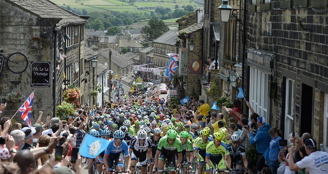 Historic Howarth welcomed the riders