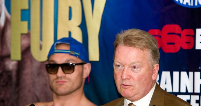Tyson Fury and promoter Frank Warren