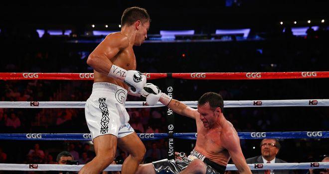 Gennady Golovkin puts down Daniel Geale in the third round
