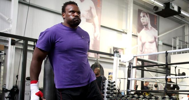 Dereck Chisora pictured doing a few light exercises last month in London