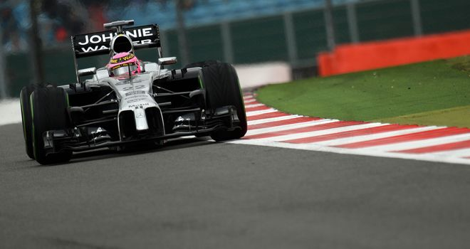 Improved results: Jenson Button finished fourth in British GP