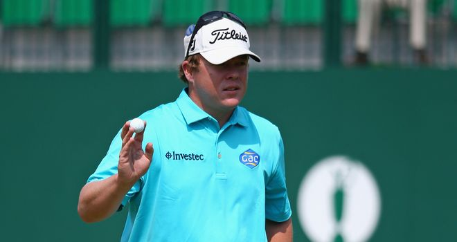 George Coetzee: Briefly shared the Open lead on his 28th birthday